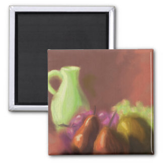 Jug with Fruit 2 Inch Square Magnet