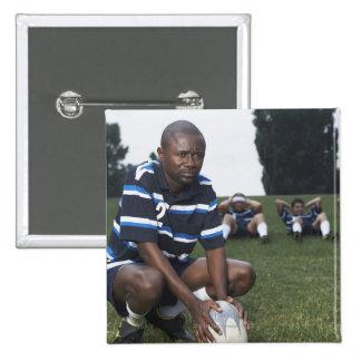 Jugador 2 del rugbi pin cuadrada 5 cm