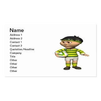 Jugador 2 del rugbi plantillas de tarjeta de negocio