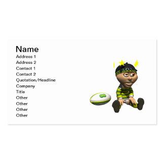 Jugador 3 del rugbi tarjeta de visita