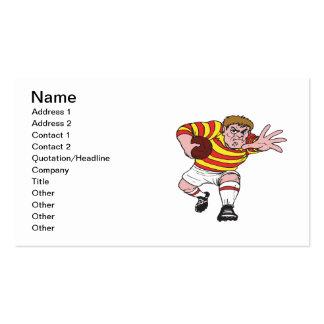 Jugador 4 del rugbi tarjeta personal
