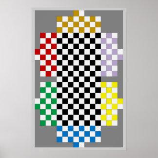 (Jugador 6) Tejas Holdem/tablero del juego del Póster