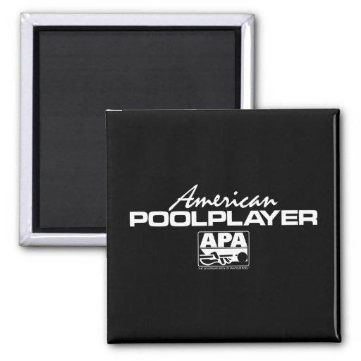 Jugador americano de la piscina iman para frigorífico