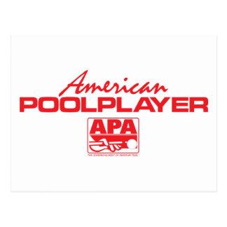 Jugador americano de la piscina - rojo postal