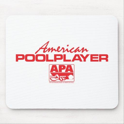 Jugador americano de la piscina - rojo tapetes de raton