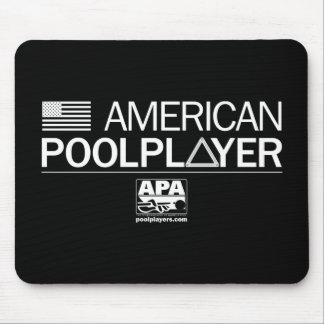 Jugador americano de la piscina tapete de raton