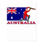 Jugador australiano del grillo postal