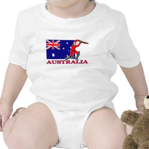 Jugador australiano del grillo traje de bebé