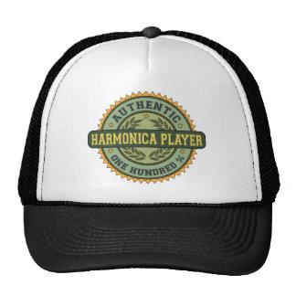 Jugador auténtico de la armónica gorras de camionero
