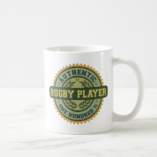 Jugador auténtico del rugbi tazas de café
