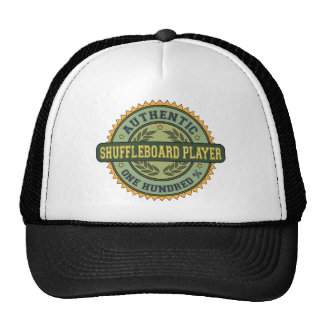 Jugador auténtico del Shuffleboard Gorras De Camionero