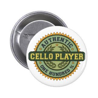 Jugador auténtico del violoncelo pins