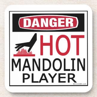Jugador caliente de la mandolina posavaso