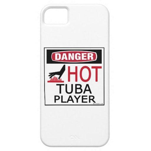 Jugador caliente de la tuba iPhone 5 Case-Mate protectores