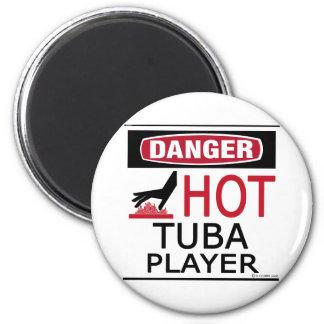 Jugador caliente de la tuba imán redondo 5 cm