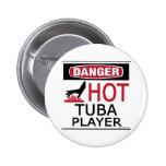 Jugador caliente de la tuba pin