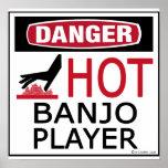 Jugador caliente del banjo poster
