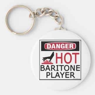 Jugador caliente del barítono llaveros personalizados