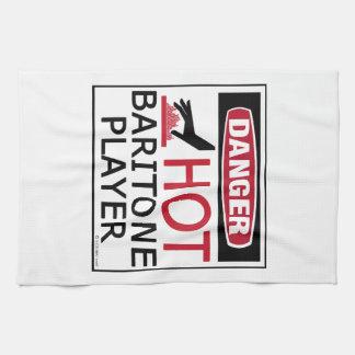 Jugador caliente del barítono toalla de mano