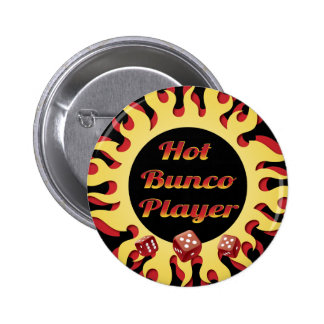 jugador caliente del bunco pin redondo de 2 pulgadas