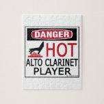 Jugador caliente del Clarinet del alto Puzzle