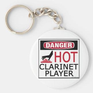 Jugador caliente del Clarinet Llavero Redondo Tipo Pin