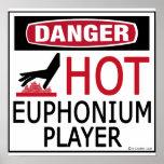 Jugador caliente del Euphonium Poster