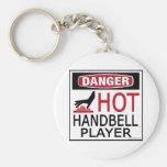 Jugador caliente del Handbell Llaveros