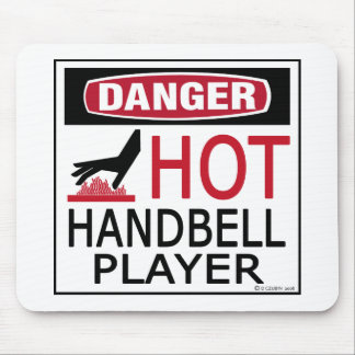 Jugador caliente del Handbell Mousepads