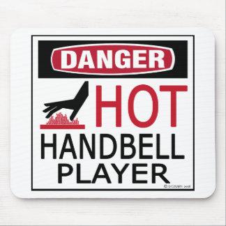 Jugador caliente del Handbell Tapete De Ratón