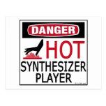Jugador caliente del sintetizador tarjetas postales