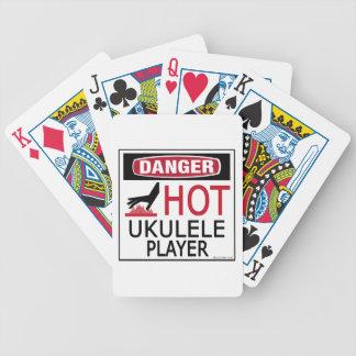 Jugador caliente del Ukulele Cartas De Juego