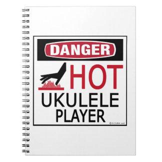 Jugador caliente del Ukulele Notebook