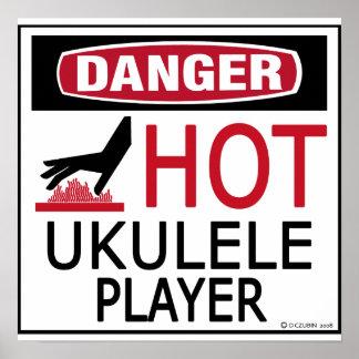 Jugador caliente del Ukulele Impresiones