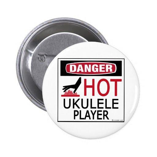 Jugador caliente del Ukulele Pin Redondo 5 Cm