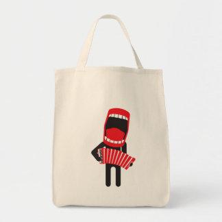 jugador cantante ruidoso del acordeón bolsa tela para la compra