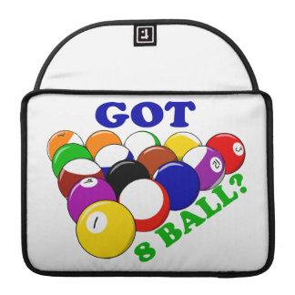 Jugador conseguido de la piscina de 8 bolas fundas para macbooks