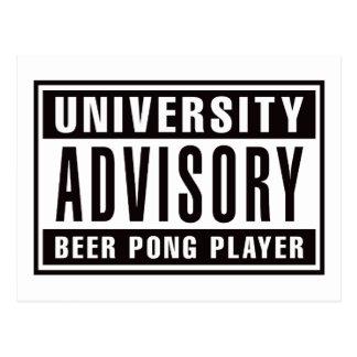 Jugador consultivo de Pong de la cerveza Postal