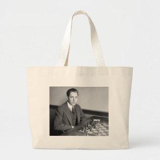 Jugador de ajedrez del campeón del mundo, 1915 bolsas lienzo