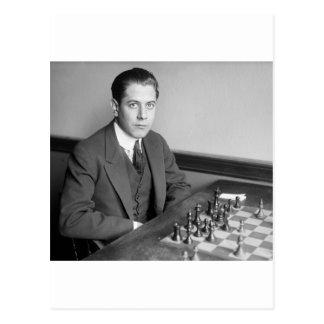 Jugador de ajedrez del campeón del mundo, 1915 postal
