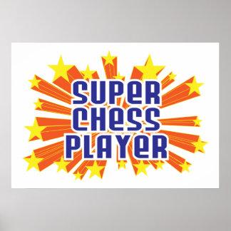 Jugador de ajedrez estupendo impresiones