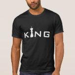 Jugador de ajedrez fresco de rey Typography Camisetas