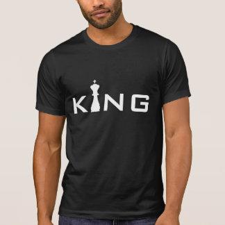 Jugador de ajedrez fresco de rey Typography Playeras