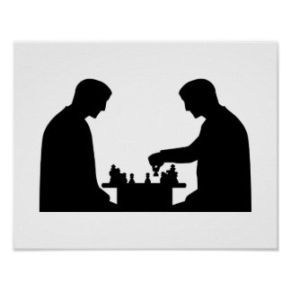 Jugador de ajedrez poster