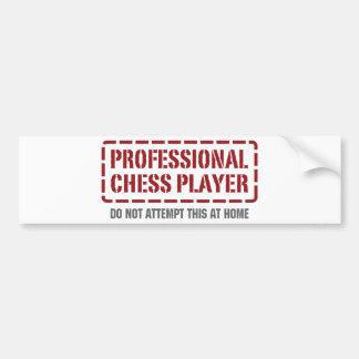 Jugador de ajedrez profesional pegatina para auto