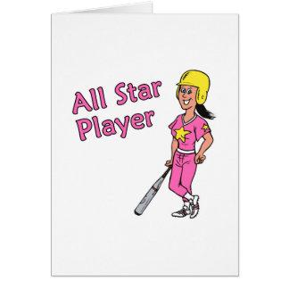 Jugador de All Star - chica Felicitaciones