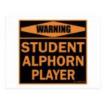 Jugador de Alphorn del estudiante Tarjeta Postal