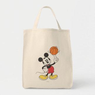 Jugador de básquet 1 de Mickey Mouse Bolsa Tela Para La Compra