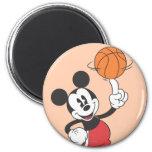 Jugador de básquet 1 de Mickey Mouse Imán Para Frigorífico