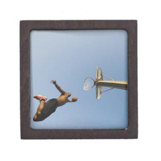 Jugador de básquet 2 caja de recuerdo de calidad